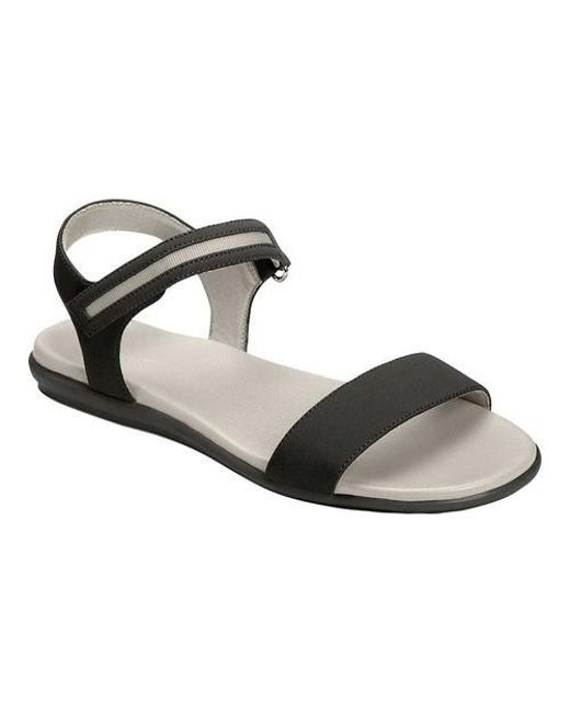58476a77e28c Lyst - Aerosoles Night Watch Flat Sandal in Black