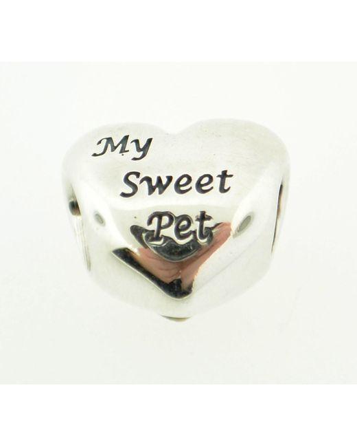 Pandora | Metallic 'my Sweet Pet' Heart Bead Charm | Lyst