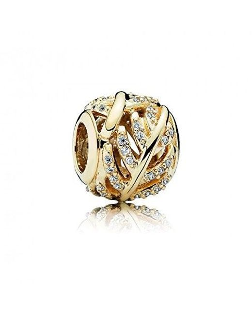 Pandora | Metallic 750831cz Charm 14k Light As A Feather | Lyst
