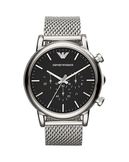 Emporio Armani - Metallic Ar1808 Classic Stainless Steel Watch for Men - Lyst