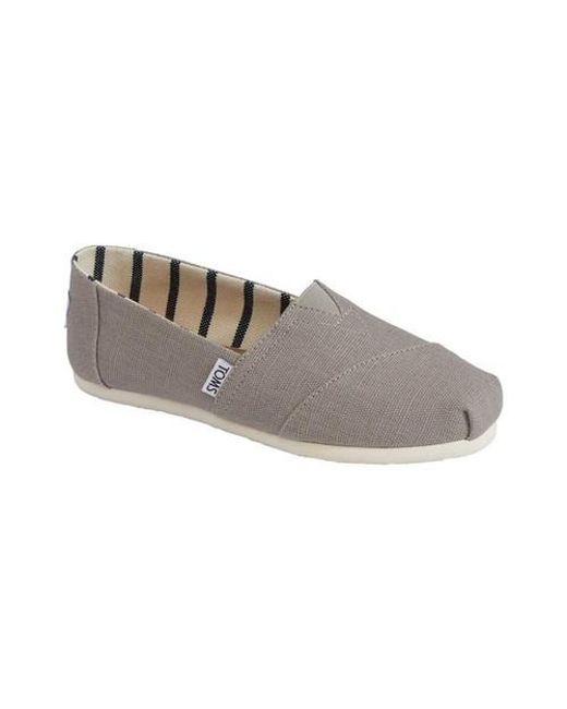 7b42e12e3a6 TOMS - Gray Classic Heritage Canvas Morning Dove Ankle-high Slip-on Shoes -