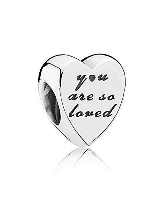 Pandora - Metallic You Are So Loved Charm In 925 Sterling Silver - Lyst