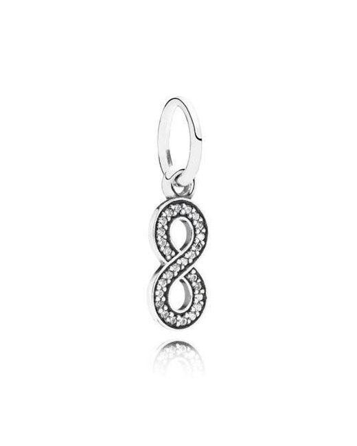 Pandora   Metallic Symbol Of Infinity In 925 Sterling Silver W/cubic Zirconia   Lyst