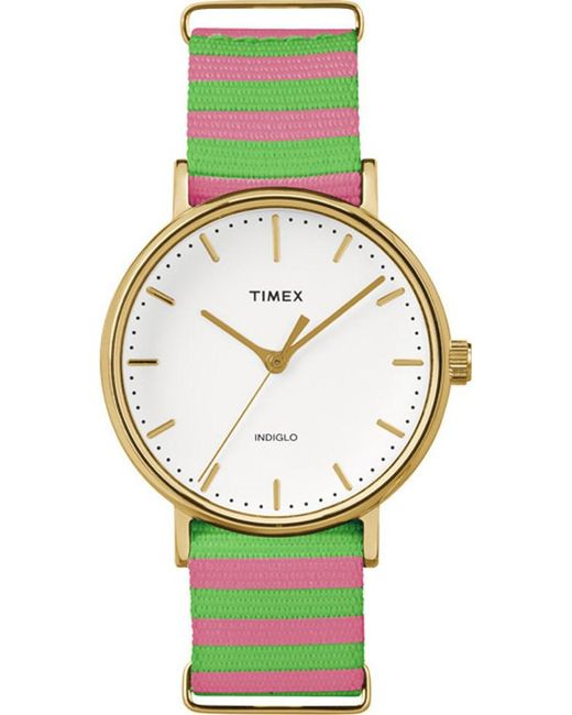 Timex - Metallic Weekender Fairfield Nylon Ladies Watch Tw2p91800 - Lyst