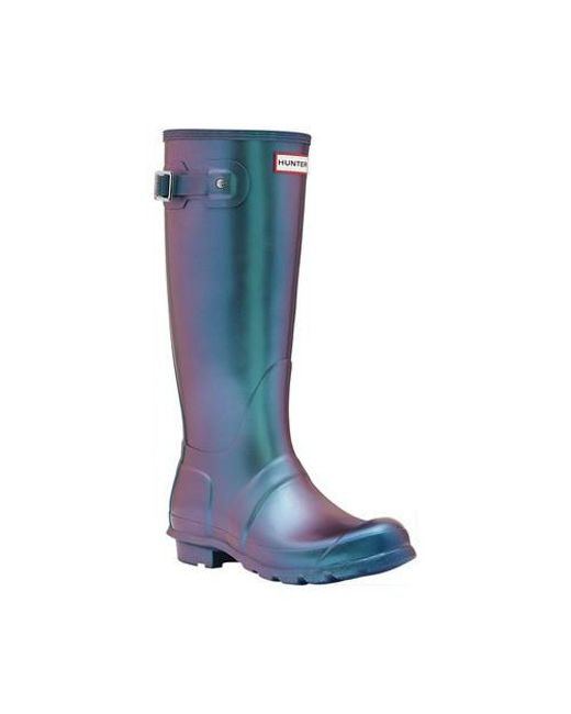 e3734e84973 Lyst - HUNTER Original Tall Nebula Rain Boot in Blue