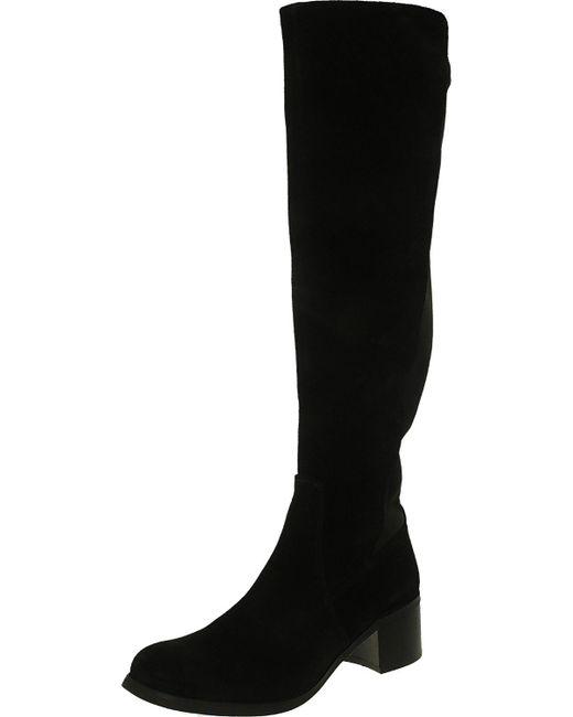Vince Camuto - Black Francel Verona/neoprene Knee-high Suede Boot - 5m - Lyst