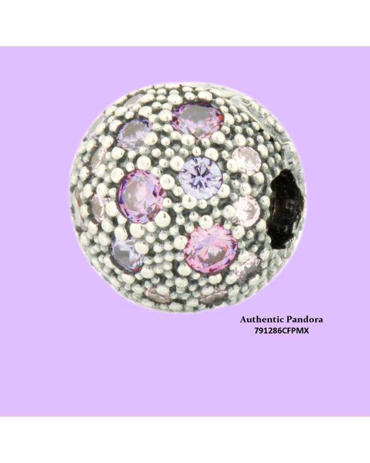 Pandora - Multicolor Fancy Purple Cosmic Stars Fixed Clip In 925 Sterling Silver - Lyst