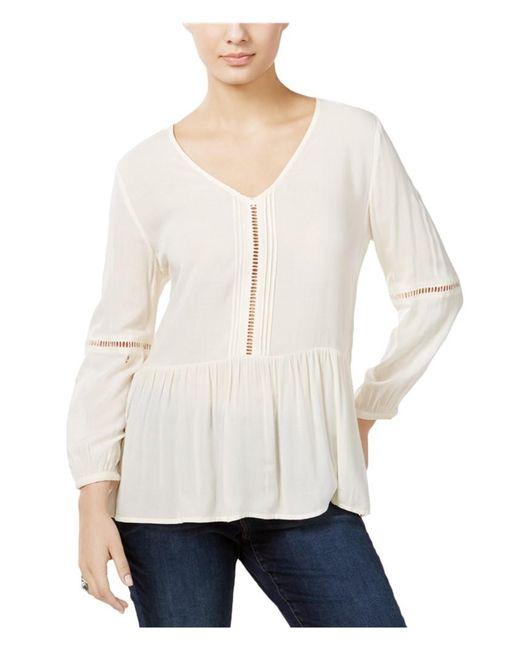 Calvin Klein | White Casual Peasant Blouse 113 Xl | Lyst