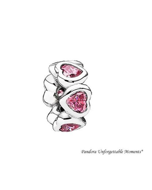 Pandora - Metallic 791252czs Sterling Space In My Heart Spacer Charm - Lyst