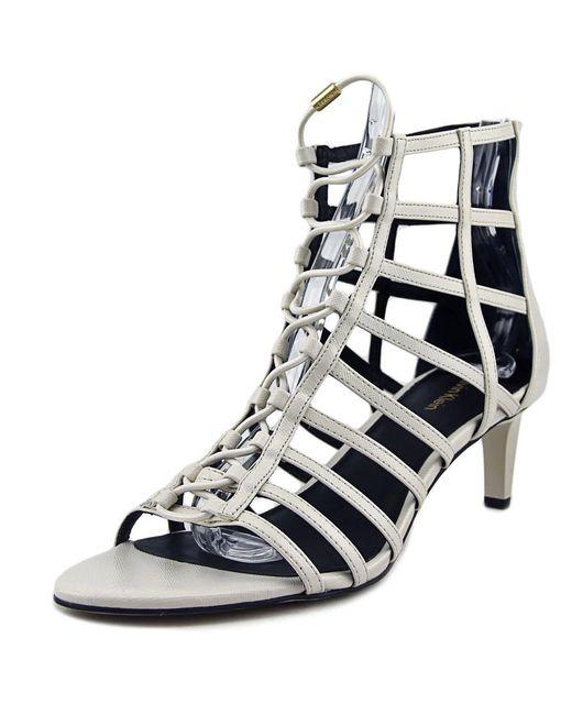 CALVIN KLEIN 205W39NYC - Neah Mini Saffiano Women Us 8 White Heels - Lyst