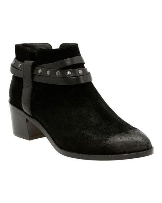 Clarks | Black Breccan Shine Ankle Boot | Lyst