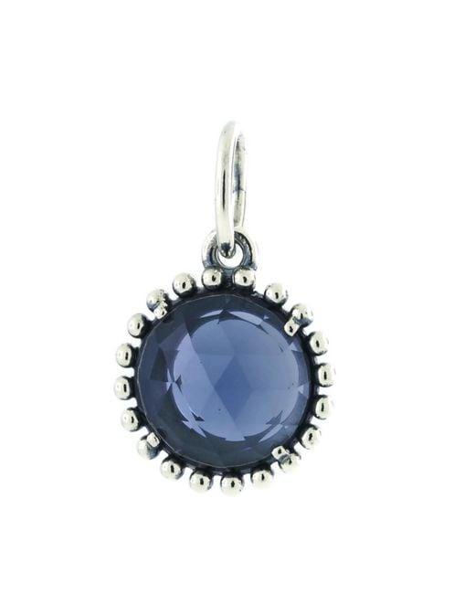 Pandora - Blue Authentic Midnight Star Pendant - Lyst