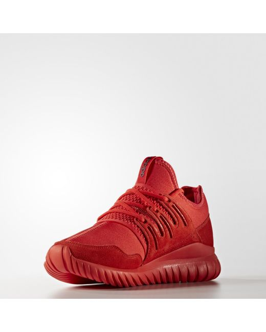 058301d8d11 Adidas - Red Tubular Radial Fashion Sneakers for Men - Lyst ...