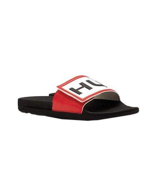 6d5f496e3ca2 Lyst - HUNTER Original Adjustable Logo Slide Sandal in Black