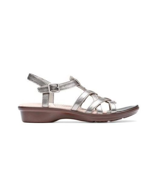 19ab9ee9014 Lyst - Clarks Loomis Katey Strappy Sandal in Metallic - Save 15%