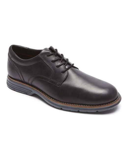 Rockport | Black Total Motion Fusion Plain Toe Oxford for Men | Lyst