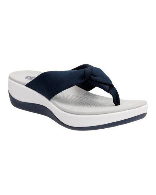 6b20e9a3293f Lyst - Clarks Arla Glison Flip-flops in Blue - Save 60%