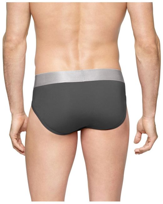 Calvin Klein - Gray Steel Micro Hip Briefs In for Men - Lyst