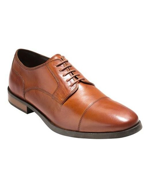 b0a95cc20b Lyst - Cole Haan Jay Grand Cap Toe Oxford in Brown for Men - Save 34%