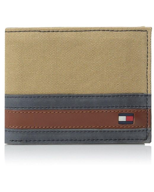Tommy Hilfiger - Multicolor 100% Leather Passcase Wallet for Men - Lyst