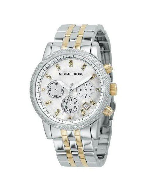 87ef8b35f6d9 Lyst - Michael Kors Ritz Metal Watch in Metallic