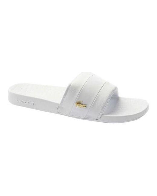 52b9a10db80b Lyst - Lacoste Frasier Slide Sandal in White