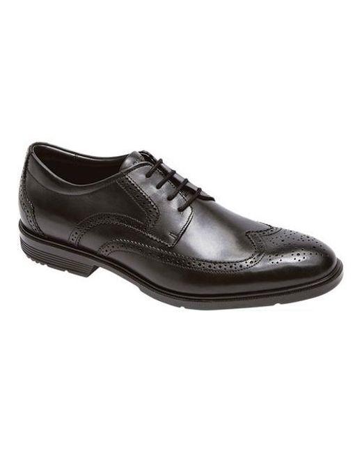 Rockport - Black City Smart Wing Tip Brogue Shoes for Men - Lyst