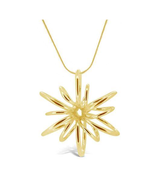 Maree London | Metallic Gold Small Lotus Necklace | Lyst