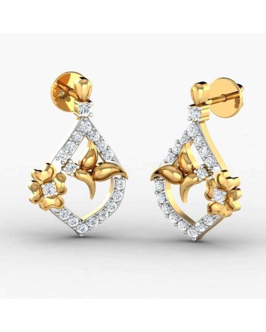 Diamoire Jewels Dendritic 18kt Yellow Gold Diamond Earrings PsXXw