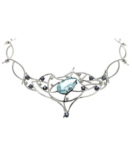 Botta Gioielli - Multicolor Amazing Drop Aquamarine Air Necklace - Lyst