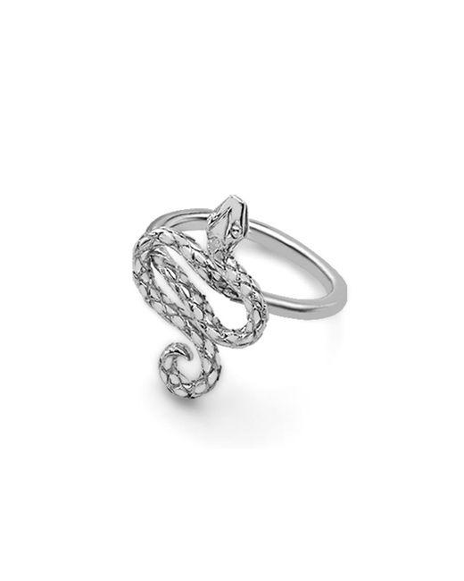 London Road Jewellery - Metallic Sterling Silver Kew Serpent Ring - Lyst