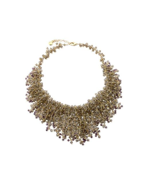 Elisa Ilana Jewelry - Multicolor Yellow Gold, Smoky Quartz & Amethyst Necklace | - Lyst