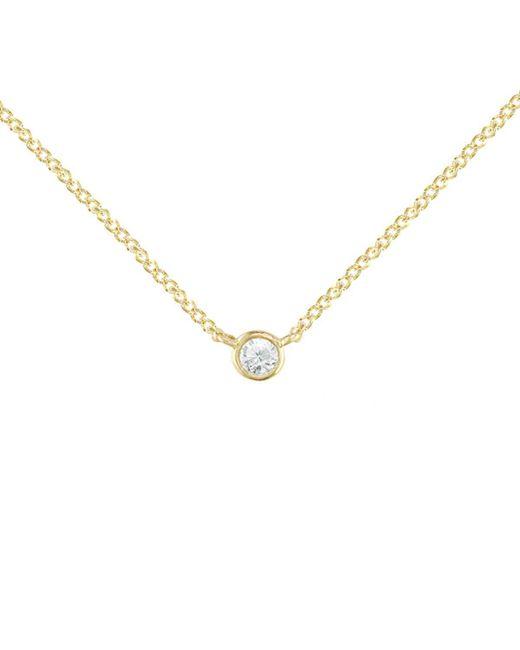 London Road Jewellery - Metallic Yellow Gold Diamond Solitaire Raindrop Pendant Necklace - Lyst