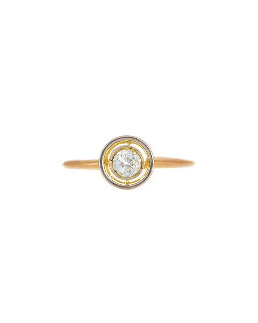 Alexis Danielle Jewelry - Metallic Art Deco Diamond Circle Ring 18kt Yellow Gold - Lyst