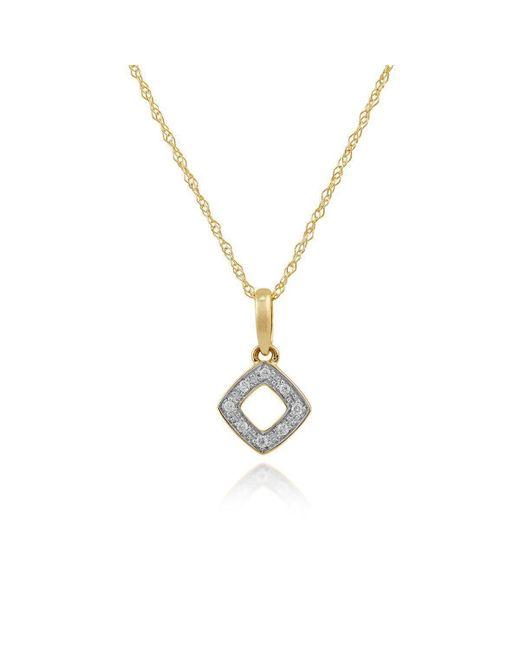 Gemondo Jewellery - Metallic Diamond Rhombus Pendant Necklace - Lyst