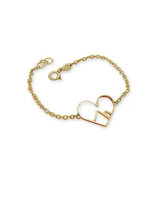 Peak Jewellery - Metallic 9kt Rose Gold Love The Mountains Bracelet - Lyst