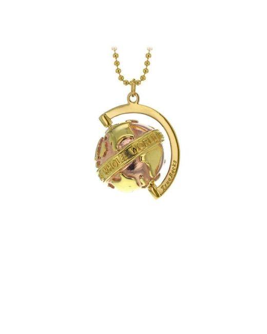 True Rocks - Metallic Small Yellow & Rose Gold Plated Silver Revolving Globe Pendant - Lyst
