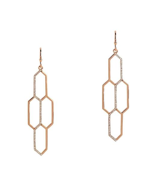 Bridget King Jewelry - Multicolor Diamond Rose Honeycomb Earrings - Lyst