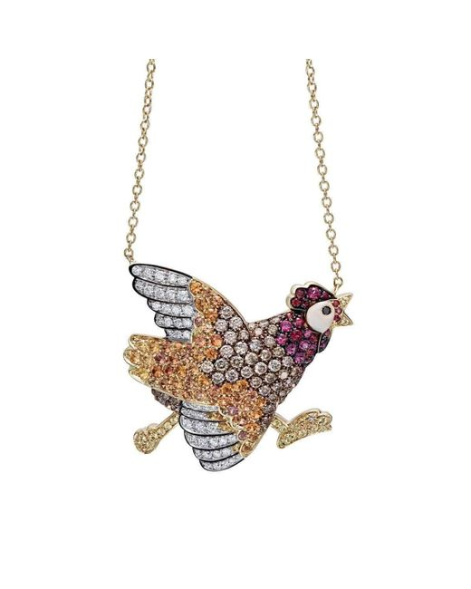 Pinomanna | Multicolor Natural Chic Running Chicken Necklace | Lyst