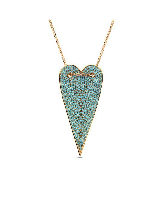 Cosanuova | Multicolor Long Turquoise Heart Necklace | Lyst