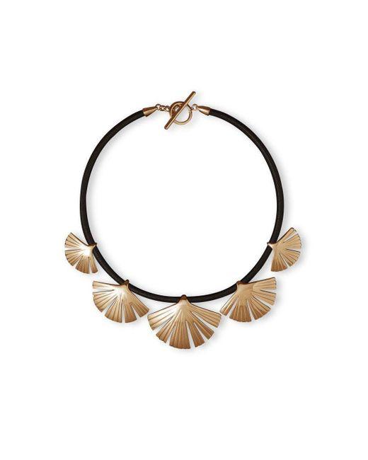 Stefano Salvetti - Metallic Rose Gold Plated Ira Bronze Necklace - Lyst