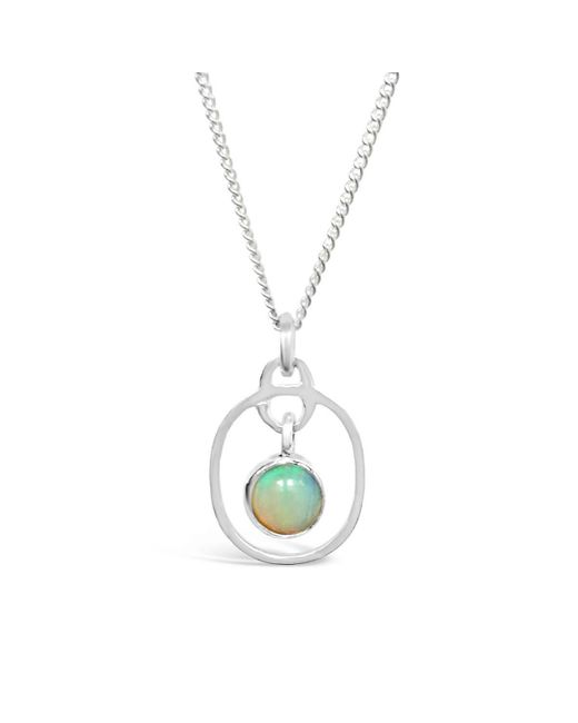Vicky Davies - Metallic Sterling Silver Opal October Birthstone Pendant Necklace - Lyst