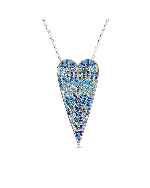 Cosanuova - Multicolor Long Heart Necklace - Lyst