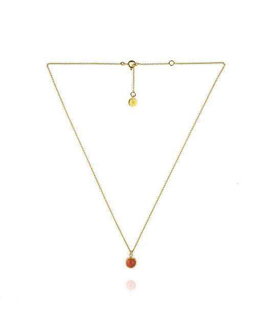 Zefyr - Metallic Dosha Necklace Gold With Carnelian - Lyst