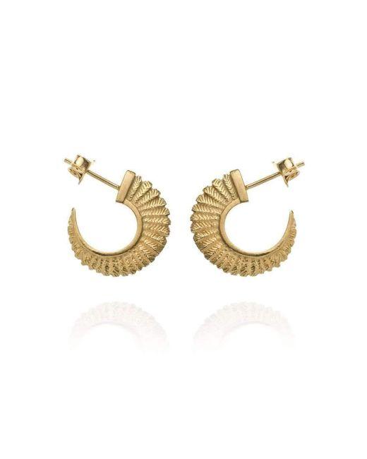 Patience Jewellery - Metallic Fern Small Hoops Vm - Lyst