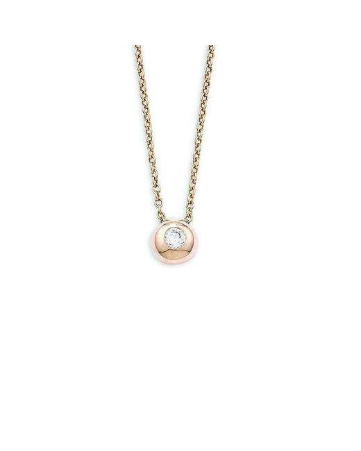 London Road Jewellery - Metallic Pimlico Doughnut Rose Gold Diamond Slide Pendant - Lyst