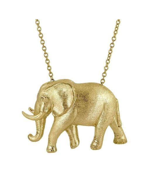 Alexander Jewell - Metallic Elephant Pendant - Lyst