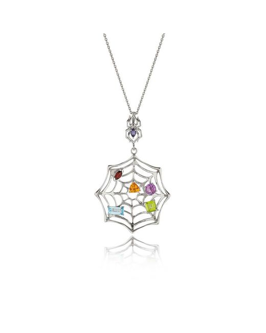 MANJA Jewellery - Multicolor Anansi Garnet, Blue Topaz, Citrine & Amethyst Necklace - Lyst