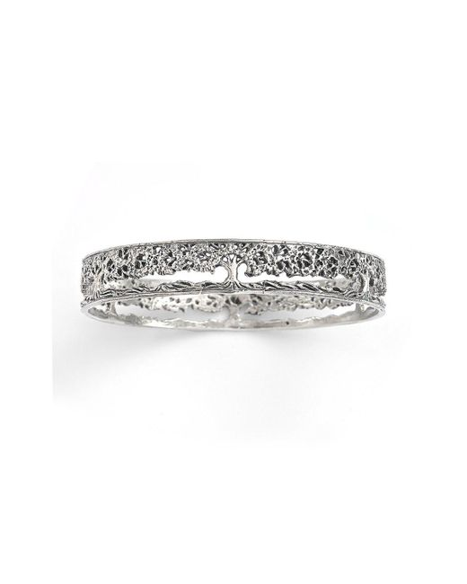 House of Alaia - Metallic Tree Of Life Filigree Bangle Bracelet In Silver - Lyst