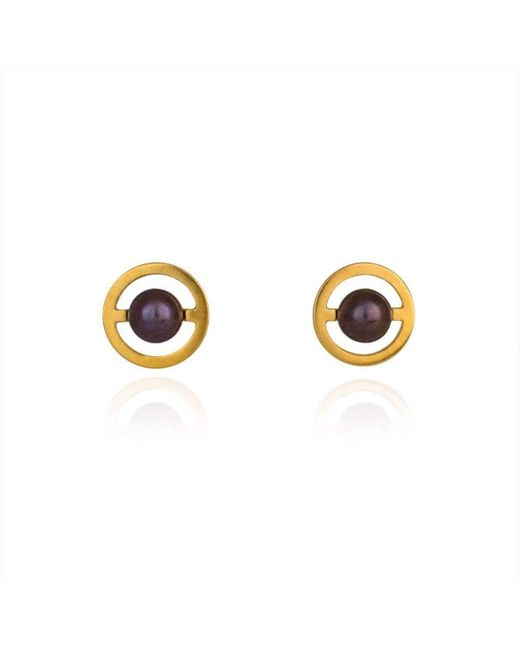 Cara Tonkin - Metallic Gold Orbit Saturn Stud Earrings - Lyst